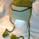 FROG HAT ski cap Animal MENS WOMENS warm winter Halloween Costume Hand KNIT beanie LINED toque