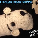 POLAR BEAR Mittens LINED knit ADULT knit PLUNGE hand puppet spirit bear Halloween Costume delux