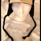 PENGUIN HAT knit Halloween Costume ADULT pittsburgh penguins ski cap FLEECE LINED baby pom poms