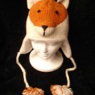 sly FOX HAT knit ski cap HUNTER Mens Womens foxy animal costume poms hunter