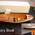 "Wood ROW BOAT Skif Dory CANOE model replica display  approx 11.5"" Item 229103"