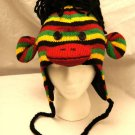 REGGAE SOCK MONKEY HAT knit ADULT dreadlocks dread locks marley jamaica Halloween Costume