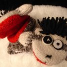 PUNK ROCK SOCK Monkey MITTENS puppet ADULT Fleece Lined UK LOVER Halloween Costume