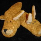 KANGAROO MITTENS puppet ADULT Lined JOEY outback knit halloween costume