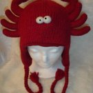 LOBSTER HAT knit SKI CAP shellfish fish crab ADULT Fleece Lined Soft Stretchy Halloween Costume red
