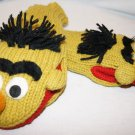 Adult  BERT ernie's pal MITTENS GREEN  KNIT Fleece Lined  ONE SIZE FITS MOST costume SESAME STREET