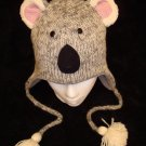 KOALA HAT knit cub gray Halloween Costume ADULT Fleece Lined BEAR ski cap FLEECE LINED mens womens
