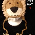 ADULT LION KNIT HAT mane wildcat FLEECE LINED Halloween Costume LIONS Leo KING of the Jungle