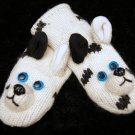 DOG MITTENS FOR MEN WOMEN unisex FLEECE LINED knit wool great dane harlequin spots
