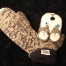 SIBERIAN HUSKY MITTENS knit FLEECE LINED mitts ADULT