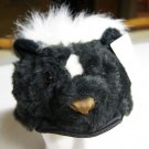 SKUNK HAT tail plush HALLOWEEN COSTUME badger Boone cap mask DOES NOT COVER FACE