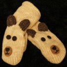 BROWN BEAR MITTENS comfy fleece lined ADULT mens womens COZY animal puppet