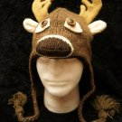 ADULT DEER HAT knit ski cap DEAR buck taxidermy reindeer COSTUME mens womens animal toque