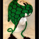 DINOSAUR Hat knit ski cap godzilla mens womens costume Fleece Lined green dragon dino delux