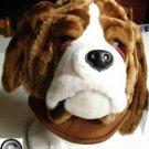DOG head HAT plush human HALLOWEEN COSTUME Saint Bernard Blood HOUND