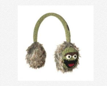OSCAR THE GROUCH Earmuffs Sesame Street ADULT mens women's Hat & Mittens sold Separate ear muffs