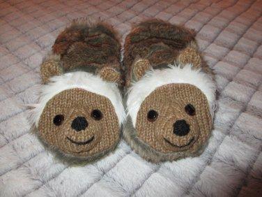 ADULT Hedgehog MITTENS knit brown FLEECE LINED hedghog possum mole groundhog