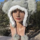 GRAY MOUSE EARS HAT fun furry fuzzy big mickey GREY animal costume
