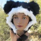 BLACK  MOUSE EARS HAT fun furry fuzzy big mickey animal costume