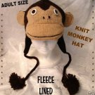 ADULT MONKEY HAT Knit Ski Cap HALLOWEEN COSTUME Japanese Anime knitwits brown DELUX knitwear