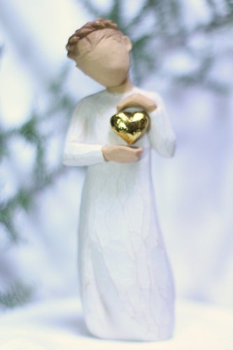 Willow Tree ANGEL Keepsake gold solid heart Susan Lordi New Gift figurine statue Valentine's Day