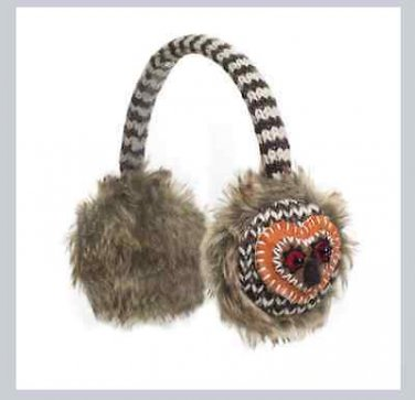 Artistic Owl Earmuffs Sesame Street ADULT mens women's Hat & Mittens sold Separate ear muffs