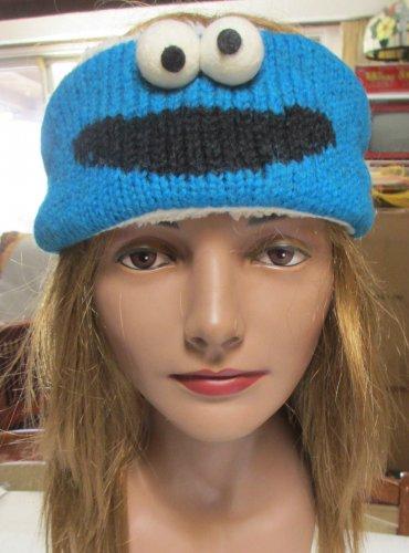 COOKIE MONSTER HEADBAND ear band head band fleece lined adjustable adult Sesame Street