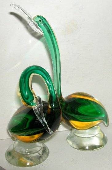 Murano art glass Barbini Ducks-1950's