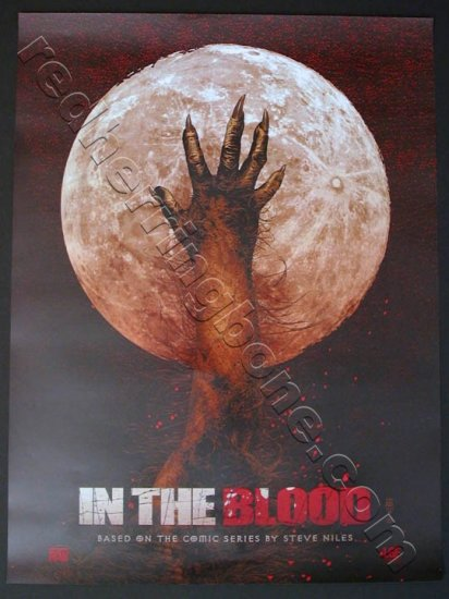 "In The Blood Promo Poster Steve Niles Tim Bradstreet (Lionsgate Films) 18""x24"" NEW"