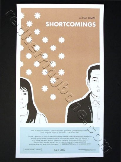 """Shortcomings"" Promo Poster Print for graphic novel by Adrian Tomine 16""x28"" NEW"