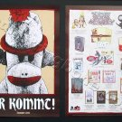 "Sock Monkey double-sided Promo Poster (Tony Millionaire) SET OF TWO 11""x17"" NEW"
