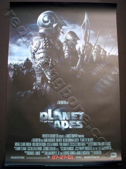 "Planet Of The Apes Promo Movie Poster One Sheet Version B (Mark Wahlberg, Tim Burton) 27""x40"" NEW"