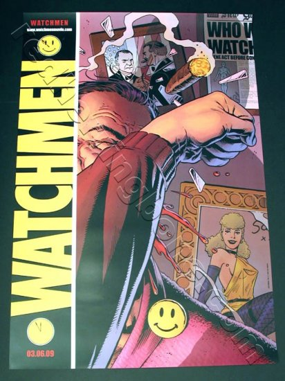 "Watchmen (2009) Promo Movie Teaser Poster One Sheet Advance RARE 27""x40"" NEW"