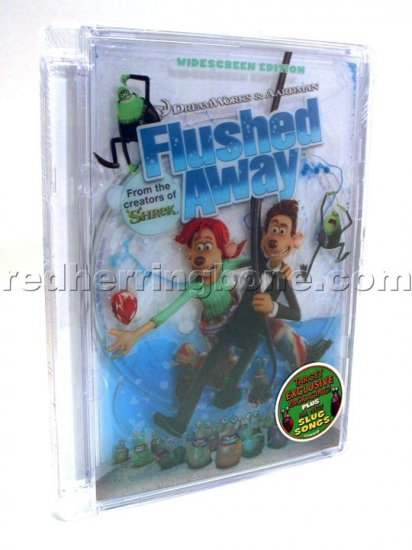 Flushed Away Widescreen DVD (Target Exclusive Liquid Packaging) NEW