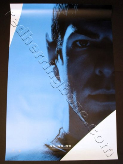 "Star Trek (2009) Movie Character Posters RARE SET OF 4 (Zachary Quinto, Chris Pine) 27""x40"" NEW"