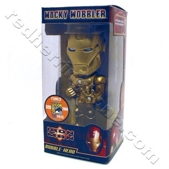 Iron Man Funko Wacky Wobbler Bobble-Head (Comic-Con 2008 Exclusive Gold Mark 3) Ironman NEW