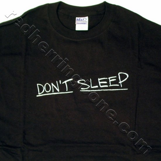 """Don't Sleep"" The Invasion Movie Promo T-Shirt (Black, Size MEDIUM) NEW"