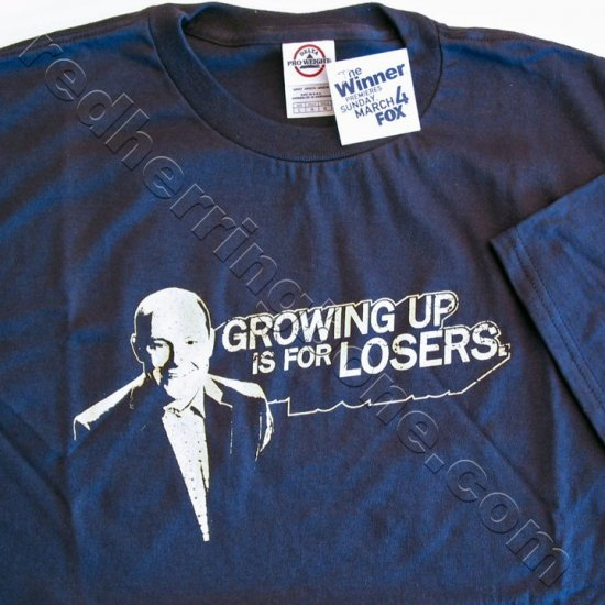 """The Winner"" FOX TV Show Promo T-Shirt (Dark Blue, Size LARGE) NEW"