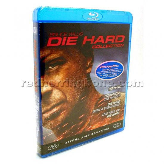 Die Hard Collection 4-Disc Blu-ray Set - all 4 films incl. Live Free or Die Hard (Bruce Willis) NEW