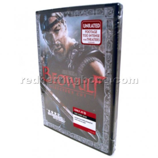 Beowulf Director's Cut DVD with Comic (Target Exclusive) & bonus Beowulf 'B' logo pin NEW