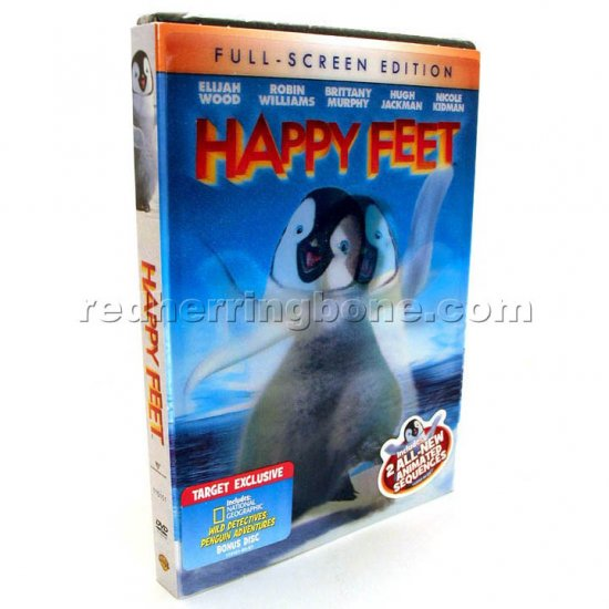 Happy Feet Fullscreen DVD with Bonus Disc & Lenticular Cover RARE (Target Exclusive) NEW