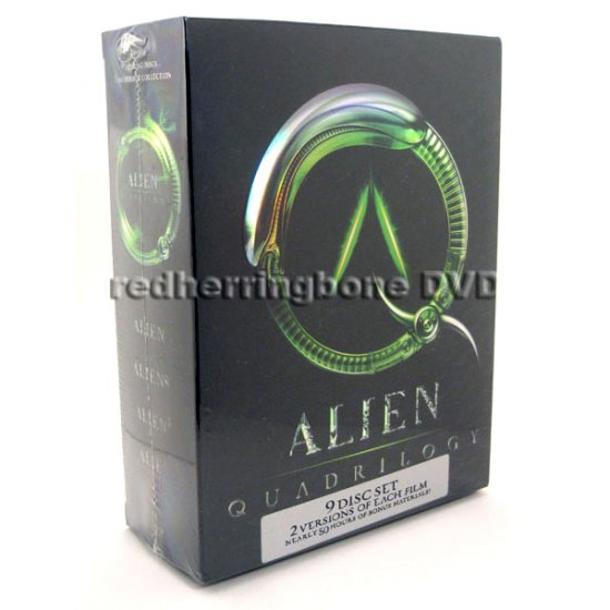 Alien Quadrilogy 9-Disc DVD Boxset (Alien, Aliens, Alien 3, Alien Resurrection) NEW