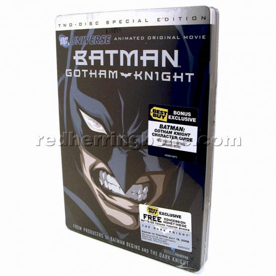 Batman Gotham Knight 2-Disc DVD with Character Guide & Steelbook (Best Buy Exclusive) NEW