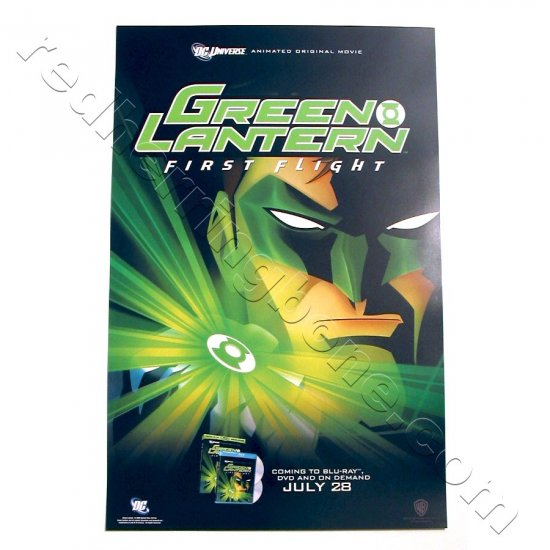Green Lantern: First Flight - animated feature Promo Poster for DVD release (DC Universe) NEW