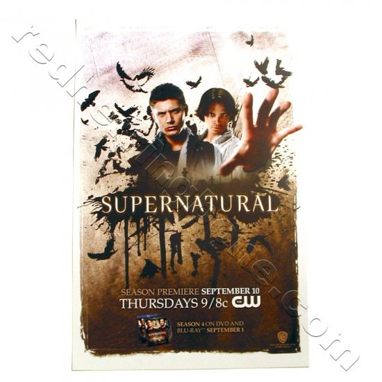 Supernatural (Jensen Ackles, Jared Padalecki) Promo Poster for 2009 season NEW