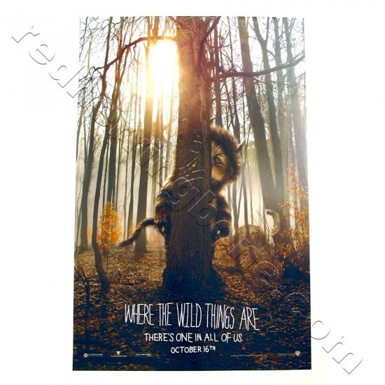"Where The Wild Things Are (2009) Promo Movie Teaser Poster 11""x17"" NEW"