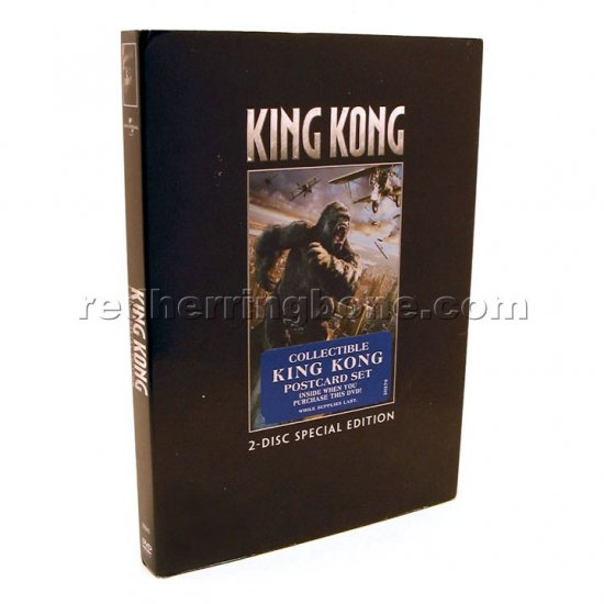 King Kong (2005) 2-Disc Special Edition DVD w/ Postcards (Adrien Brody, Jack Black) RARE NEW
