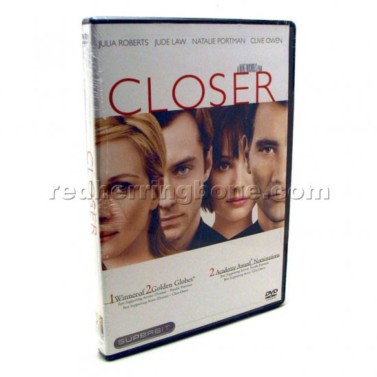 Closer DVD Superbit Edition (Natalie Portman, Jude Law, Clive Owen) NEW