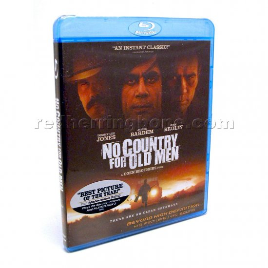 No Country for Old Men Blu-ray (Javier Bardem, Josh Brolin, Tommy Lee Jones) NEW