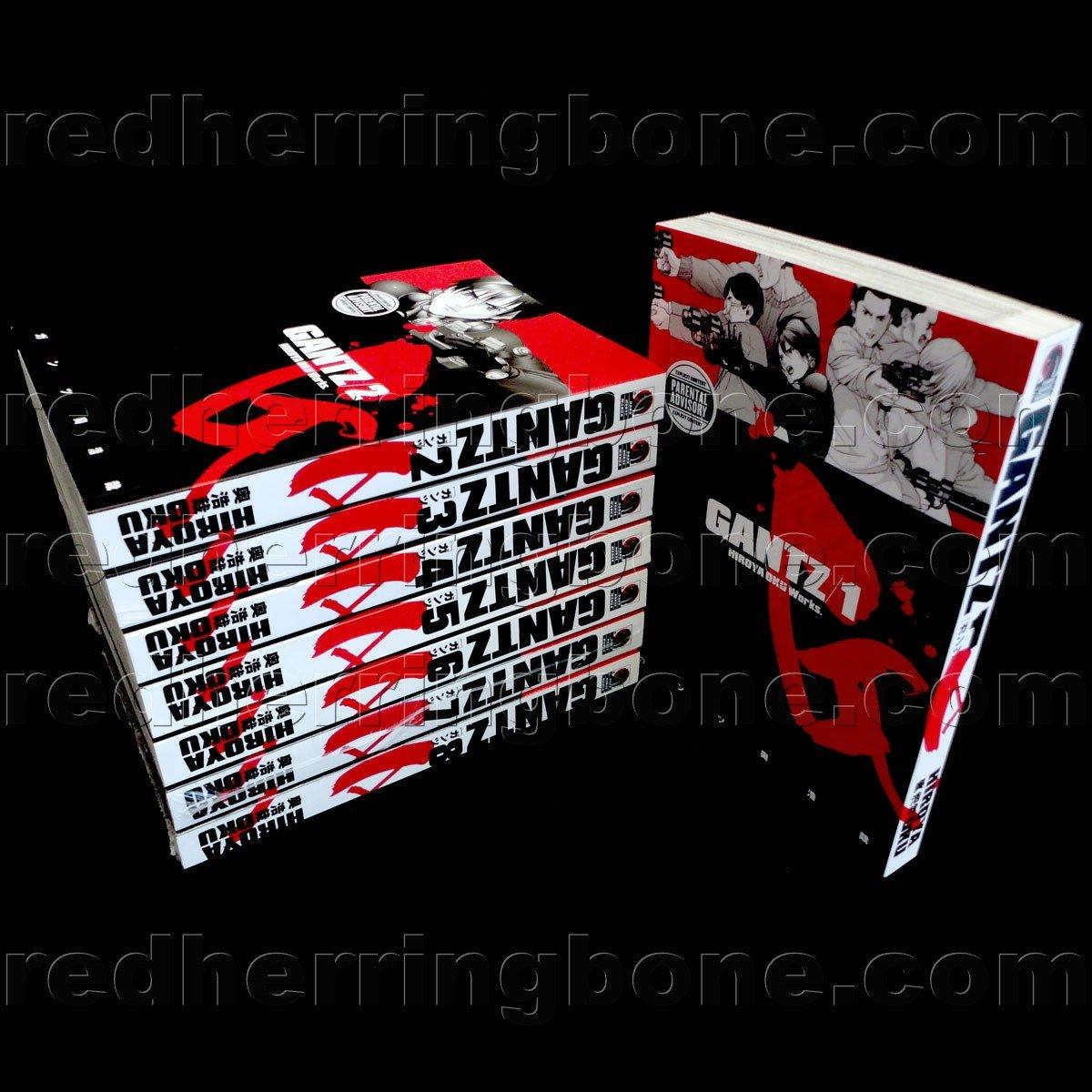 Gantz, Vol. 1-8 Manga (set includes 8 volumes) Hiroya Oku NEW